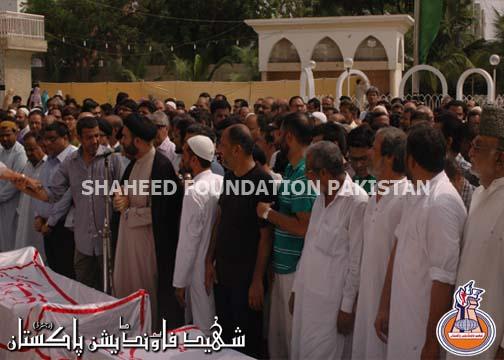 Namaz-e-Janaza of Shaheed Mukhtar Azmi