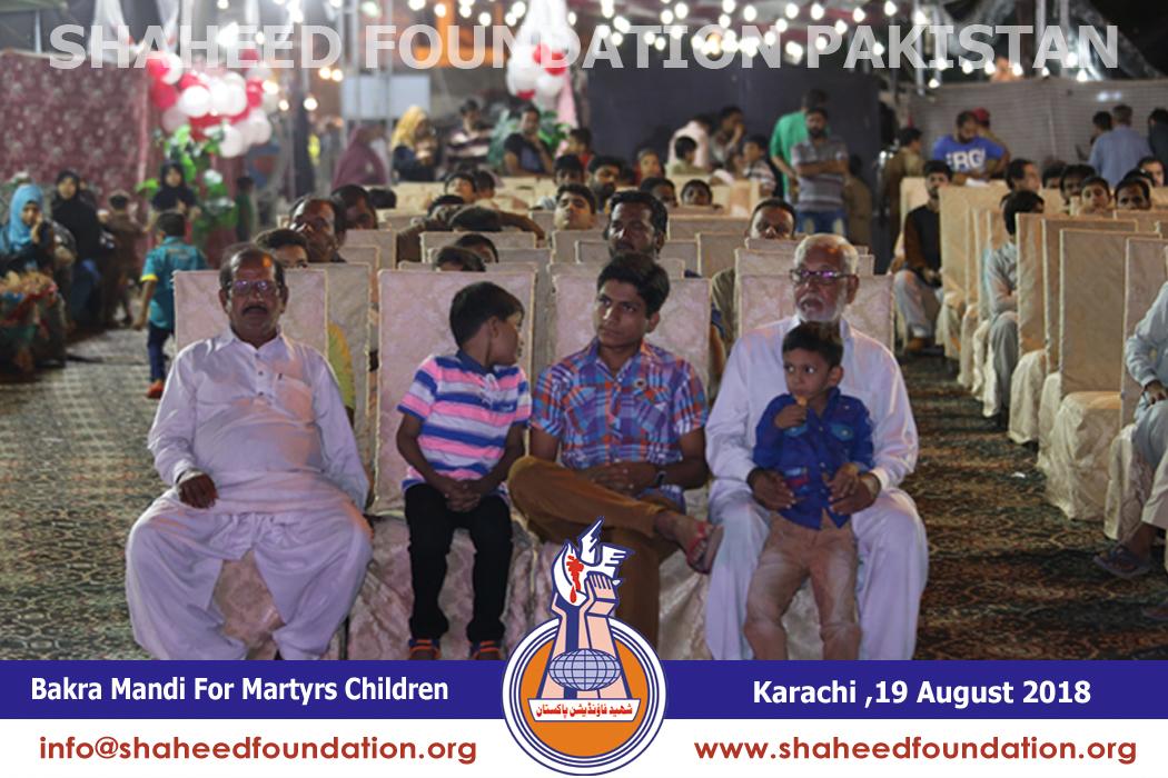 Karachi:Bakra Mandi for Children of Martyrs Held Near