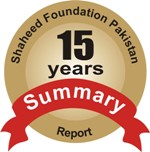 Shaheed Foundation Pakistan 15 years Summary Report