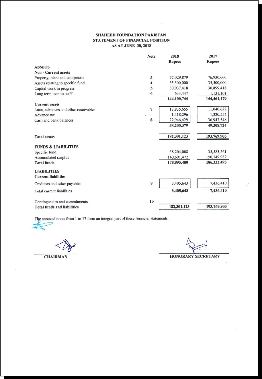 SFP Audit Report 2018