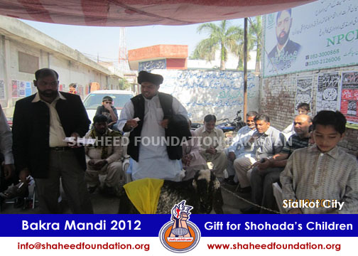 SFP Bakra Mandi Sialkot 2012 for children of Martyrs